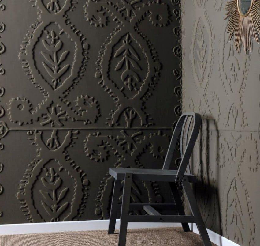 Рельефный рисунок на стене своими руками 36